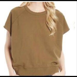 Free people short sleeve sweatshirt size large